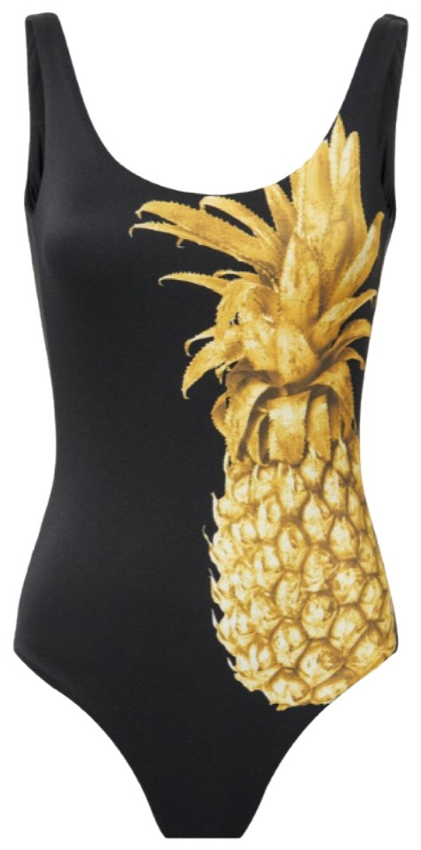 9decce55ff Onia Kelly Golden Pineapple One-piece Bathing Suit Size 8 (M) - Tradesy