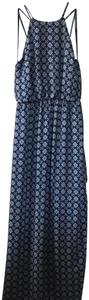 blue with prints Maxi Dress by One Clothing