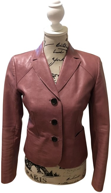 Item - Dusty Pink Leather Blazer/Ann Blazer Size Petite 2 (XS)