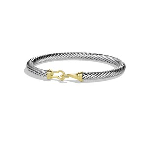David Yurman Silver Cable Buckle with 5mm Bracelet
