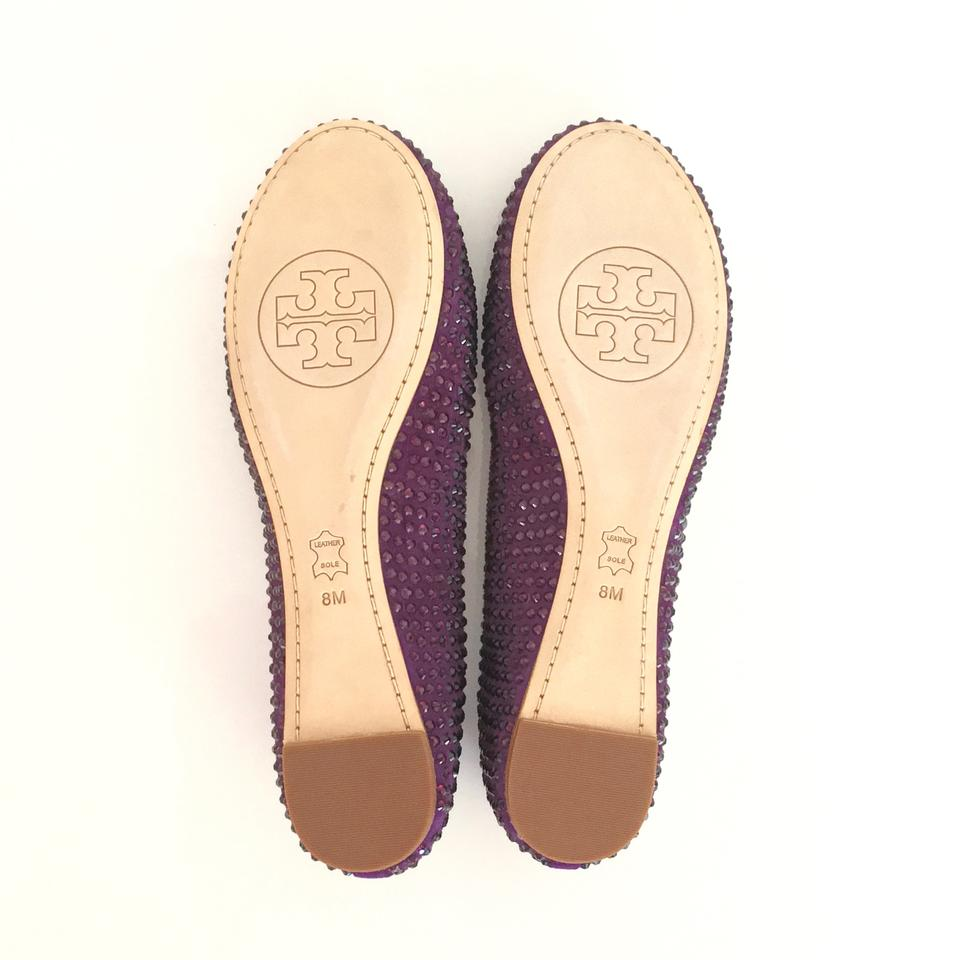 Tory Burch Purple Soho Chelsea Ballet Lux Gem Suede Flats Size US 8 Regular  (M, B) 53% off retail