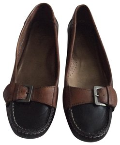 Cole Haan Leather Brown and black Flats