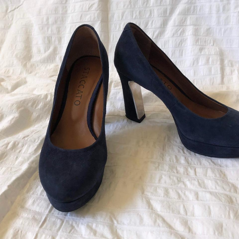 03b619a7888 Navy Suede Pumps Size US 6 Regular (M