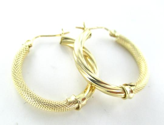 Other 14KT YELLOW GOLD EARRINGS HOOP COOL DESIGN FINE JEWELRY 2.4 GRAMS MOTHERS DAY