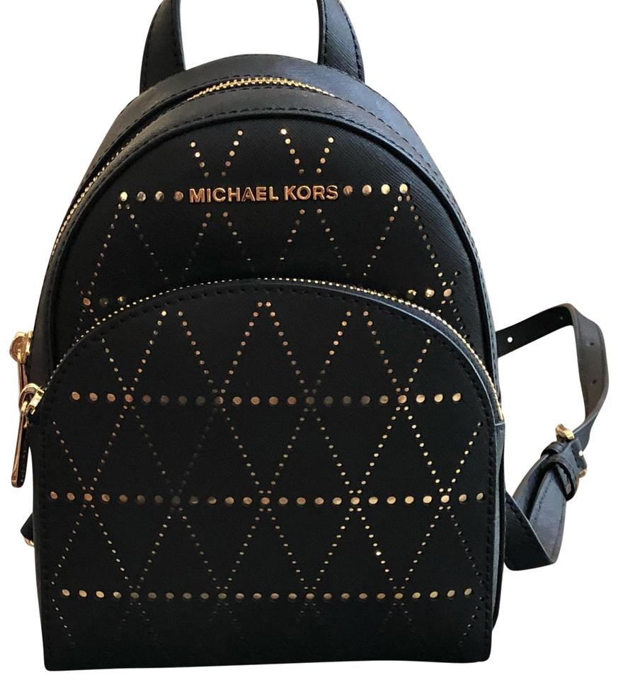 cbb8a00233 Michael Kors XS Abbey Black Saffiano Leather Backpack 44% off retail