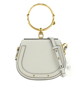 Chloé Nile Bracelet Calfskin Satchel in Grey