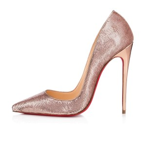 Christian Louboutin Heels So Kate Sequin Mirror Nude Pink Pumps