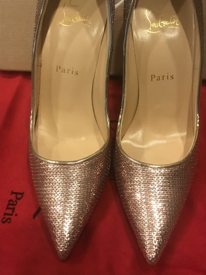 Christian Louboutin Heels So Kate Sequin Mirror Nude Pink Pumps Image 10