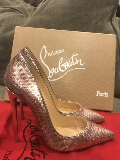 Christian Louboutin Heels So Kate Sequin Mirror Nude Pink Pumps Image 11