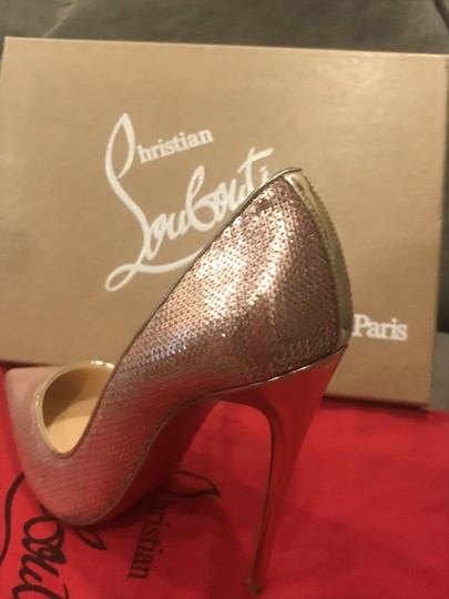 Christian Louboutin Heels So Kate Sequin Mirror Nude Pink Pumps Image 2