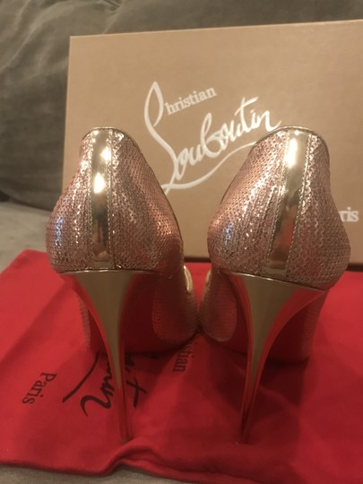 Christian Louboutin Heels So Kate Sequin Mirror Nude Pink Pumps Image 3