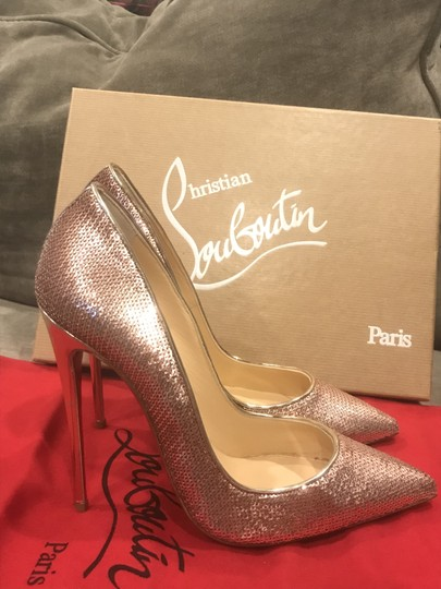 Christian Louboutin Heels So Kate Sequin Mirror Nude Pink Pumps Image 4