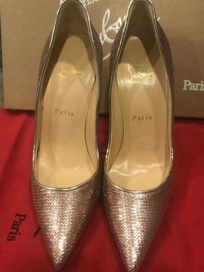 Christian Louboutin Heels So Kate Sequin Mirror Nude Pink Pumps Image 5