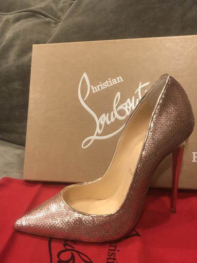 Christian Louboutin Heels So Kate Sequin Mirror Nude Pink Pumps Image 7
