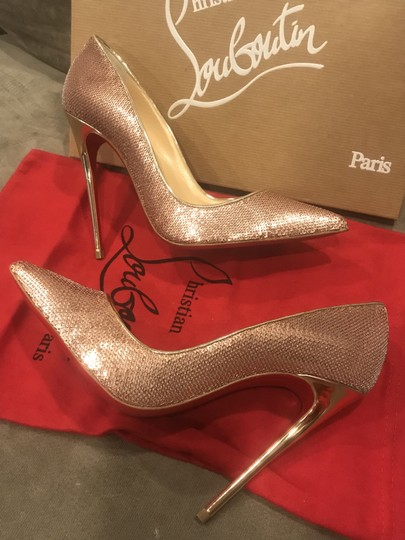Christian Louboutin Heels So Kate Sequin Mirror Nude Pink Pumps Image 9