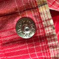 Larry Mahan Rodeo Shirt Cowboy Plaid Pearl Buttons Button Down Shirt red Image 4