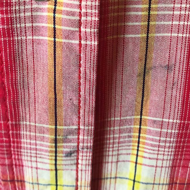 Larry Mahan Rodeo Shirt Cowboy Plaid Pearl Buttons Button Down Shirt red Image 6
