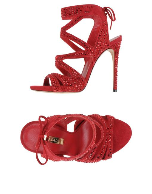Casadei Red Caged Sandals Size EU 37 (Approx. US 7) Regular (M, B) Casadei Red Caged Sandals Size EU 37 (Approx. US 7) Regular (M, B) Image 1