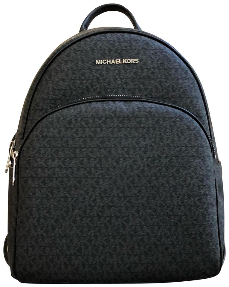 2e2889f1044c Michael Kors Abbey Leather Large Backpack Bag Black | Stanford ...