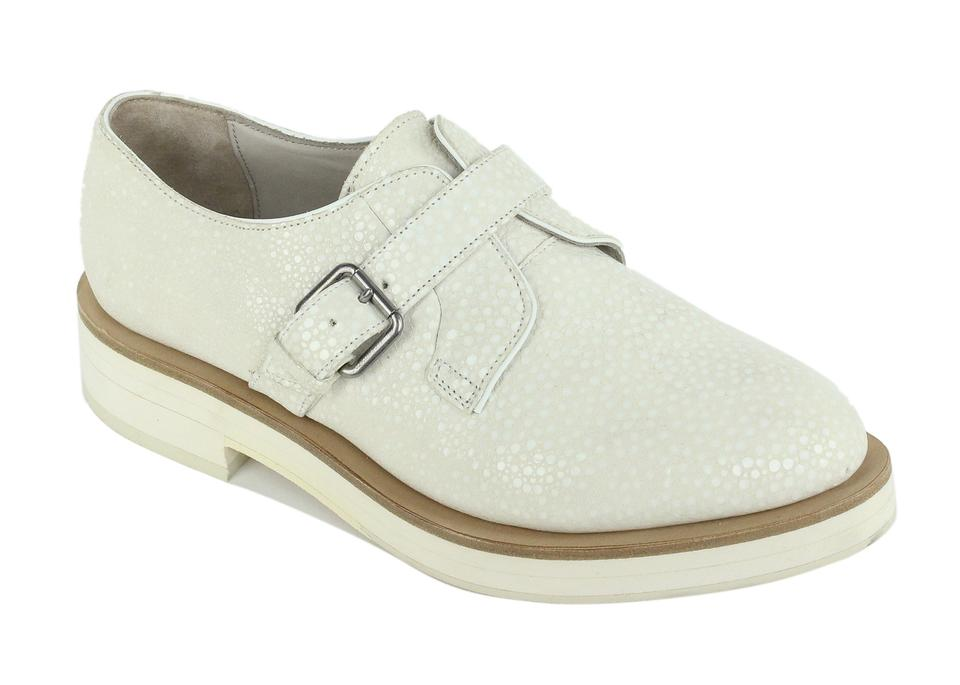 Ivory Buckle Brunello Dotted Suede Oxfords Flats Cucinelli gwaPZq5A