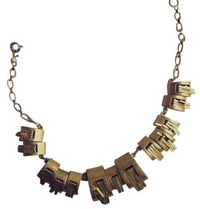 J.Crew Jcrew Gold and Brass Plated Textured Necklace