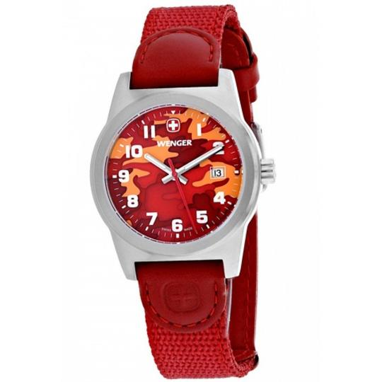 Wenger 01.0411.104 Classic Women Red Nylon Band With Red Analog Dial Watch Image 1