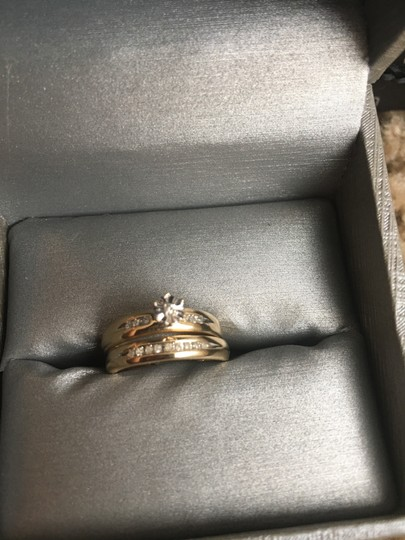 Preload https://img-static.tradesy.com/item/23730413/zales-gold-new-engament-ring-and-2-with-diamonds-women-s-wedding-band-set-0-1-540-540.jpg