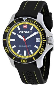 Wenger 01.0621.101 Classic Women's Black Rubber Band With Black Analog Watch
