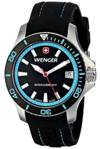 Wenger 01.0621.105 Classic Women's Black Rubber Band With Black Analog Dial