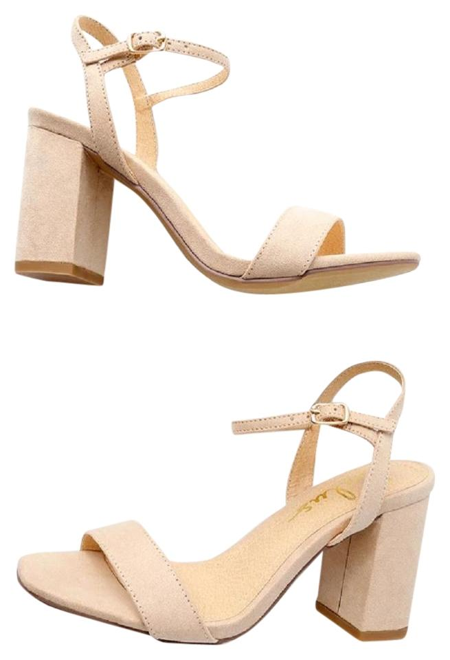 711924e6d Lulu*s Nude Arya Suede High Style 575042 Sandals Size US 8 Regular ...