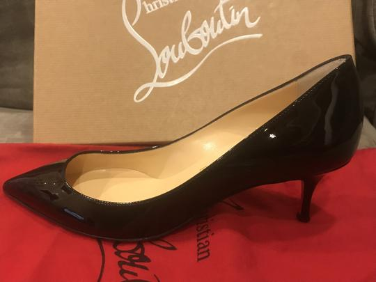 Christian Louboutin Pigalle Follies Patent Leather Heels Kitten Heel Black Pumps Image 5