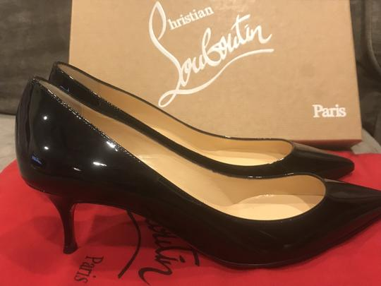Christian Louboutin Pigalle Follies Patent Leather Heels Kitten Heel Black Pumps Image 6
