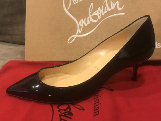 Christian Louboutin Pigalle Follies Patent Leather Heels Kitten Heel Black Pumps Image 8