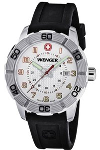 Wenger 01.0851.104 Roadster Men's Black Rubber Band With Black Analog Watch