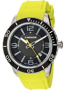 Wenger 01.0851.115 Roadster Men's Yellow Rubber Band With Black Analog Watch