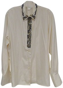 Cache Top Ivory, Gray, Yellow