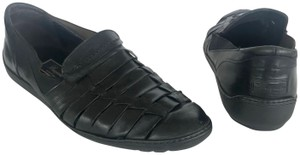 Cole Haan Leather Woven Sandals Mens BLACK Flats