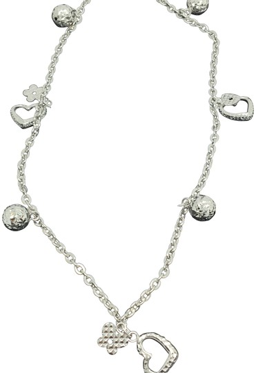 Preload https://img-static.tradesy.com/item/23730641/18k-white-gold-diamond-cut-heart-and-ball-charms-anklet-0-1-540-540.jpg