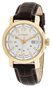 Wenger 01.1021.114 Urban Women's Brown Leather Band With White Analog Watch