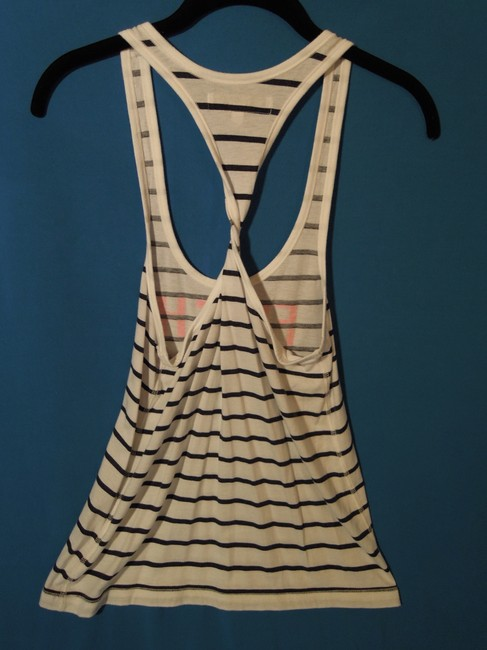 Abercrombie & Fitch Top black & white stripe