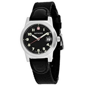 Wenger 72926 Field Women's Black Nylon Band With Black Analog Dial Watch