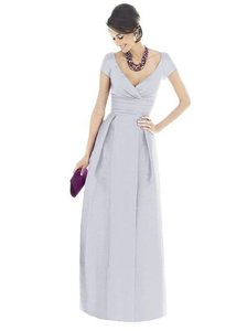 Alfred Sung Dove Dupioni D501 Formal Bridesmaid/Mob Dress Size 6 (S)