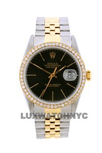Rolex Free Shipping 1.2ct 36mm Datejust S/S with Box & Appraisal Watch