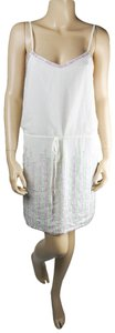 Fable Blouson Beaded Sequin Top White