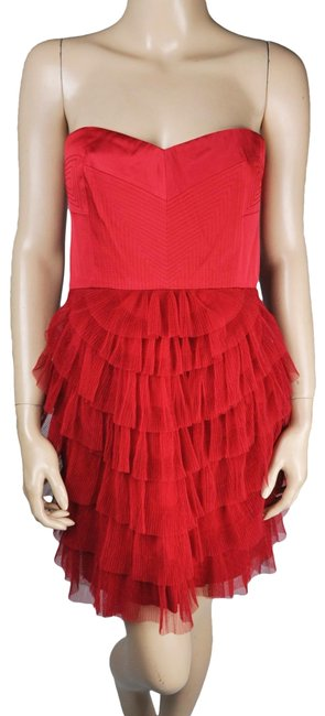 Preload https://img-static.tradesy.com/item/23731179/bcbgmaxazria-red-bcbg-one-shoulder-tiered-tulle-ruffle-mid-length-cocktail-dress-size-petite-10-m-0-1-650-650.jpg