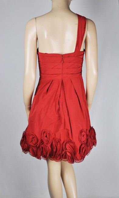 BCBGMAXAZRIA One Shoulder Grecian Ruched Dress Image 1
