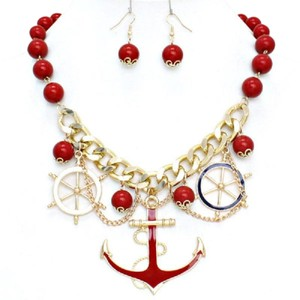Other Anchor Pendant BeachLife Charm Gold Chain Necklace Set