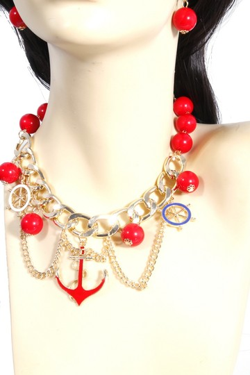 Other Anchor Pendant BeachLife Charm Gold Chain Necklace Set Image 2