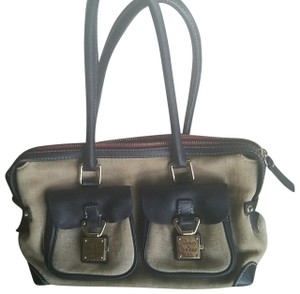 Dooney & Bourke Satchel in Sand/Black