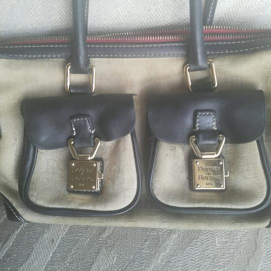Dooney & Bourke Satchel in Sand/Black Image 1